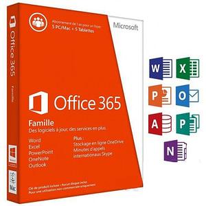 Microsoft Office 365 Famille Premium 32/64 Bits - Licence d'abonnement ( 1 an ) - jusquà 5 PC ou Mac + 5 tablettes