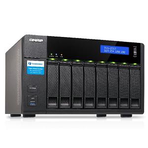 Serveur NAS haute performance pour une triple solution DAS/NAS/SAN iSCSI 8 baies QNAP TVS-871T-i5-16G