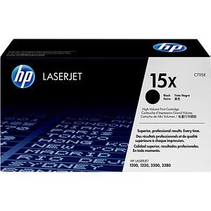 Cartouche d'impression noire HP LaserJet C7115X avec toner Ultraprecise (C7115X)