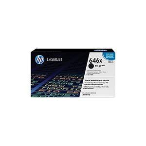 Cartouche authentique de toner noir haute capacité HP LaserJet 646X (CE264X)