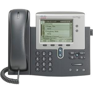 """Téléphone VoIP Cisco Unified 7942G avec Écran monochrome 5"""" - PoE"""