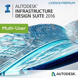 Licence Autodesk Infrastructure Design Suite Premium 2016 - Multi-User