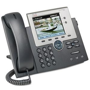 """Téléphone VoIP Cisco Unified 7945G avec Écran TFT 5"""" - PoE 2 lignes"""